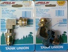 90 degree Tank Unions--With Shut-Off And O-Ring Seal
