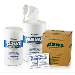 Personal Antimicrobial Wipe by Safetec (p.a.w.s.)