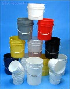 Open-Head Plastic Tapered Pails