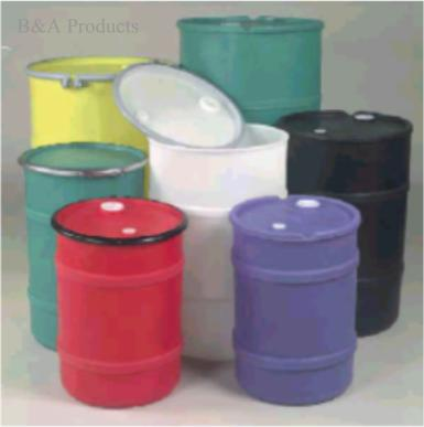 Heavy Duty Plastic Drums in Colors