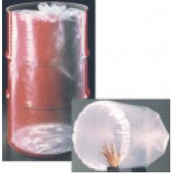 55 Gallon Round Bottom Flexible Liners - Tie-Top - 10 mil