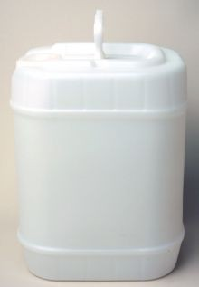 5 Gallon Rectangular Closed-Head Plastic Pails - Natural