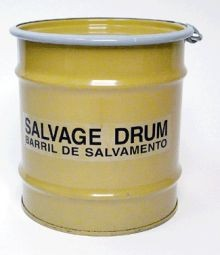8 Gallon Steel Salvage Drum - Unlined