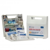50 Person Bulk Plastic First Aid Kit With Dividers, ANSI A+, Type I & II