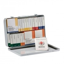 75 Person 36 Unit First Aid Kit, ANSI A+ Compliant With BBP (Blood Borne Pathogen) Pack, Weatherproof Steel Case, Type III