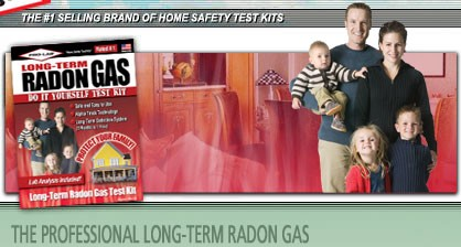 Radon Gas - Long Term Test Kit