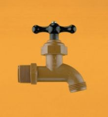 3/4 Inch Chemical Resistant PVC Faucet - ABS Handle