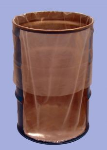 55 Gallon Round Bottom Flexible Liners - Fold-Back - 5 mil