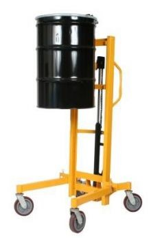 High-Lift Hydraulic Drum Handler - 880 lb. capacity