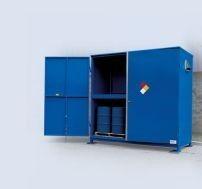 Enclosed 12 Drum Storage Unit With Sump