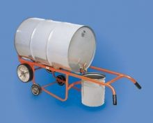 Drainer Drum Truck - Polyolefin Wheels - With Kickstand