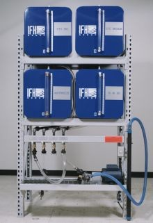 IFH Oil Storage and Dispensing System With Four - 65 Gallon Containers - Outboard Console