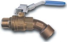 Brass Ball Valve Style Barrel Faucet - 3/4 Inch NPT Inlet/Outlet
