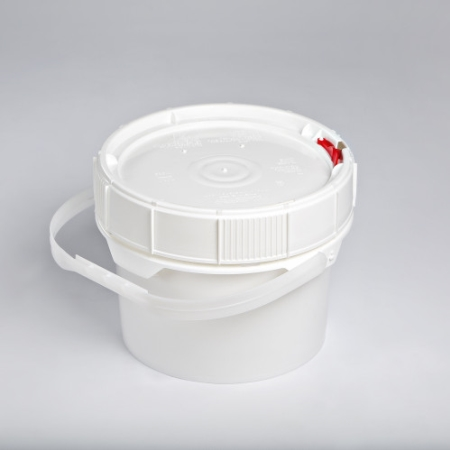 2 Gallon New Generation White Pail with White Lifelatch Lid