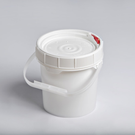 5 Gallon White New Generation Pail with White,Red or blue Lifelatch Lid