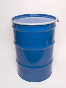 55 Gallon Open-Head UN-Rated Steel Drum - Blue - Rust Inhibitor Interior