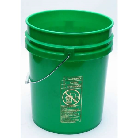 5 Gallon Open Head Green Plastic Pail