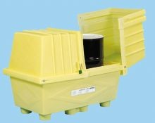 Enpac Outdoor Storage With Drain Plug For Two Drums