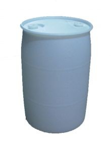30 Gallon Closed-Head Plastic Drums - White