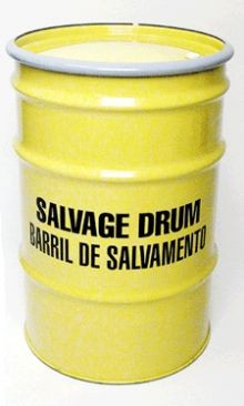 30 Gallon Steel Salvage Drums - Lined
