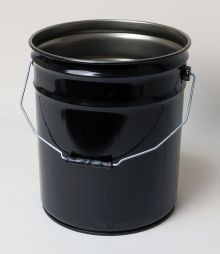 5 Gallon Open-Head Steel Pail - Black