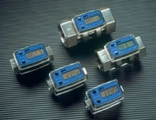Electronic Digital Flowmeter - 0.3 - 3 GPM - Aluminum Housing