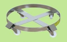 Stainless Steel Drum Dolly - 30 Gallon