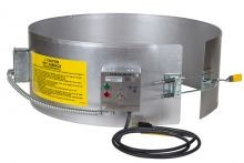 EXPO Electric Drum Heater - Pre-Set Thermostat - For 55 Gallon Plastic Drums