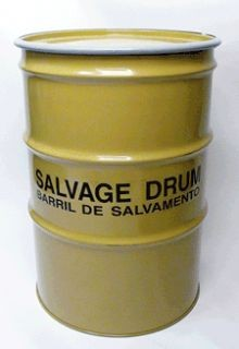 85 Gallon Steel Salvage Drum - Lined