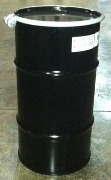 16 Gallon Open-Head UN-Rated Steel Drum - Black - Rust Inhibitor Interior