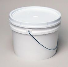 1 Gallon Pail and Lid - Open-Head Tapered Plastic Pail