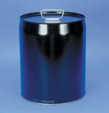 5 Gallon Closed-Head Steel Pail - Black