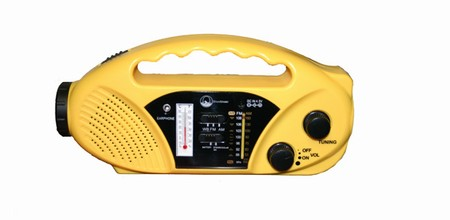 Emergency Radio/ Flashlight Solar Crank and Battery
