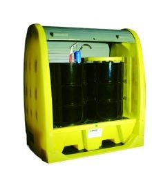 Enpac Roll Top 2 Drum Outdoor Spill Containment Pallet - No drain