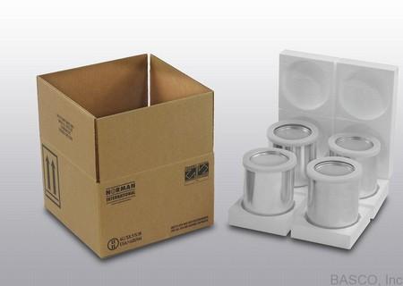 Hazmat Packaging With Four - 1 Quart Paint Cans