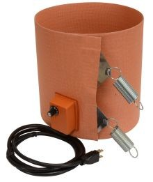 Silicone Rubber Drum Heater - 9.5 Inch Wide - 15 Gallon