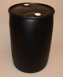55 Gallon Closed-Head Plastic Drum - Black