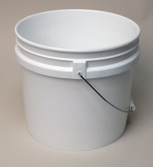 3.5 Gallon Open-Head Tapered Plastic Pail