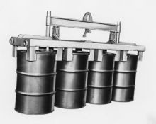 Drum Lifter - 6 Vertical - SKU 2066 - BASCO Drum Lifter - 6 Vertical