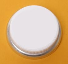 3/4 Inch Self Gasketing Hex-Head Plastic Capseal - White