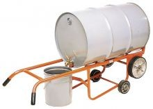 Drainer Drum Truck - Moldon Rubber Wheels - With Kickstand
