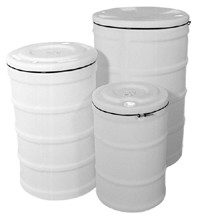 15 Gallon Sealable Lid Op[en Head Plastic Drum - 15 Gallon