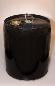 5 Gallon Closed-Head Steel Pail - Black