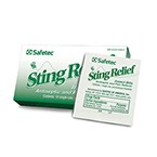 Safetec Sting Relief Wipe- Box of 10