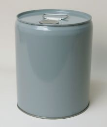 5 Gallon Closed-Head Steel Pail - Gray