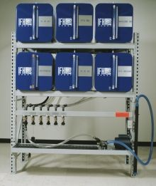 IFH Oil Storage and Dispensing System With Six - 65 Gallon Containers - Outboard Console