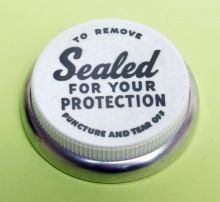 3/4 Inch Self Gasketing Hex-Head Plastic Capseal - Sealed For Your Protection