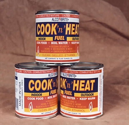 Alco-Brite emergency heat /cook fuel (Case of 24 cans 16.0 oz. cans)