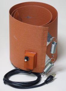 Silicone Rubber Drum Heater - 9.5 Inch Wide - 55 Gallon