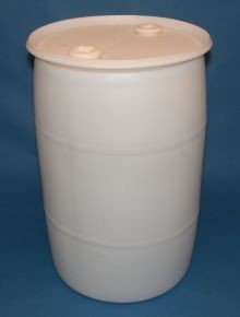 30 Gallon Closed-Head Plastic Drum - Natural